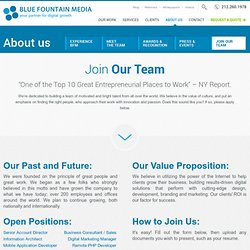 Career Opportunities with Blue Fountain Media NYC