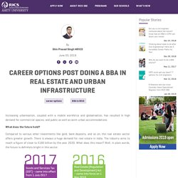 Career options post doing a BBA in Real Estate and Urban Infrastructure