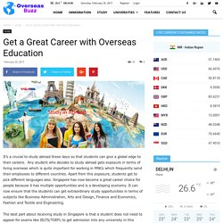 Get a Great Career with Overseas Education -Visa House