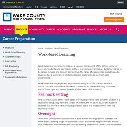 Career Preparation / Work-based Learning