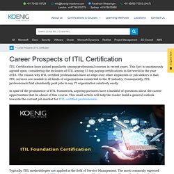 Career Prospects of ITIL Certification