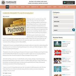Career Prospects in Psychology