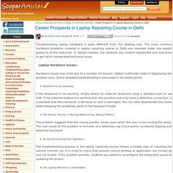 Career Prospects in Laptop Repairing Course in Delhi