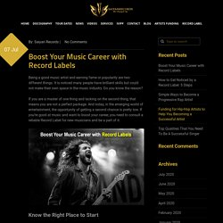 Boost Your Music Career with Record Labels