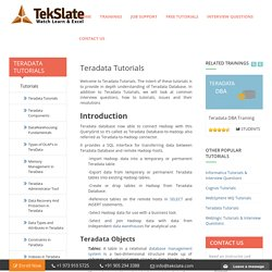 Want To Build A New Career In Teradata
