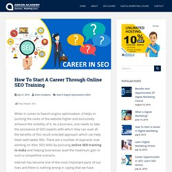 How To Start A Career Through Online SEO Training