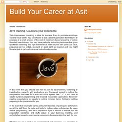 Build Your Career at Asit: Java Training- Counts to your experience