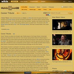 Career Tribute - The Hunger Games Wiki