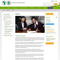 Careers - African Development Bank