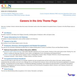 Careers in the Arts Theme Page