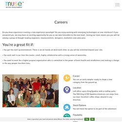 Careers - Muse: the brain sensing headband