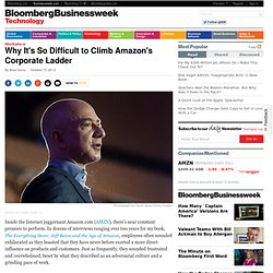 Careers at Amazon: Why It's So Hard to Climb Jeff Bezos's Corporate Ladder