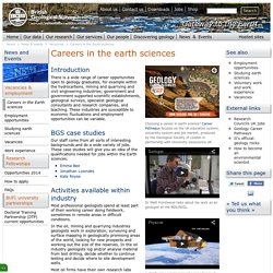 Careers in the Earth sciences