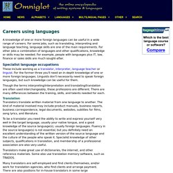 Careers using foreign languages