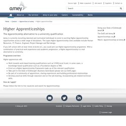 Amey : Careers : Higher Apprenticeships