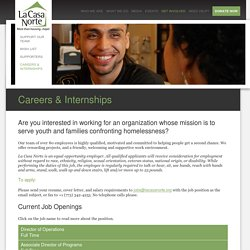 Careers & Internships // La Casa Norte