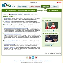 Jobs and Careers Lesson Plans for Teachers