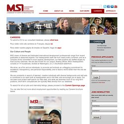 Careers - MSI Worldwide