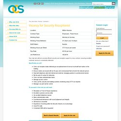 Careers at OCS, Careers UK