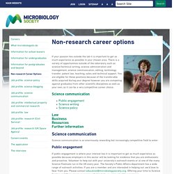Careers - Non-research career options