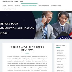 Aspire World Careers Reviews