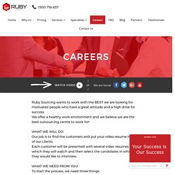 Careers / Rubysourcing