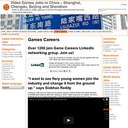 Video Games Jobs in China - Shanghai, Chengdu, Beijing and Shenzhen