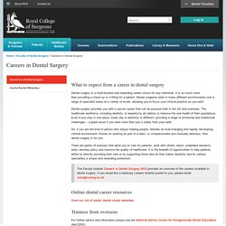 Careers in Dental Surgery — Royal College of Surgeons