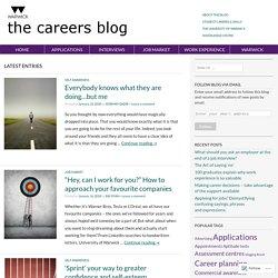 The University of Warwick, Student Careers & Skills