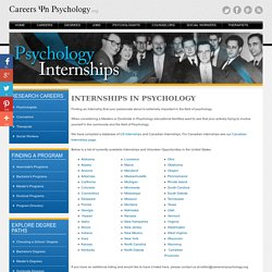 Psychology Internships