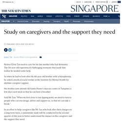 Study on caregivers and the support they need, Singapore News