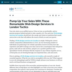 Pump Up Your Sales With These Remarkable Web Design Services In London Tactics : caresortweb — LiveJournal