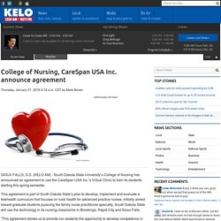 College of Nursing, CareSpan USA Inc. announce agreement