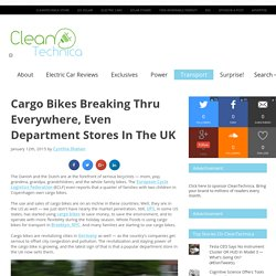 *****Cargo Bikes Now In UK Department Stores
