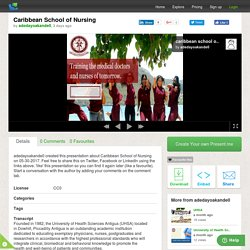 Caribbean School of Nursing