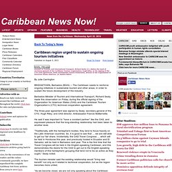 Caribbean region urged to sustain ongoing tourism initiatives