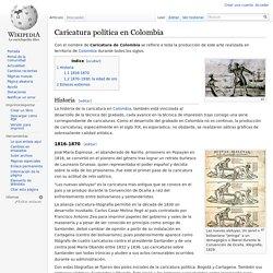 Caricatura política en Colombia