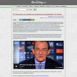 TF1 fait censurer sur Youtube une caricature de son présentateur J.P. Pernaut
