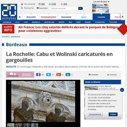 La Rochelle: Cabu et Wolinski caricaturés en gargouilles