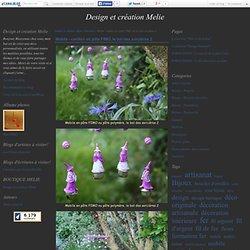 Mobile - carillon en pâte FIMO, le bal des sorcières 2 - Design et création Melie