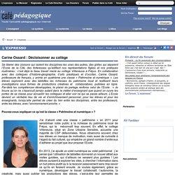 Carine Ossard : Décloisonner au collège