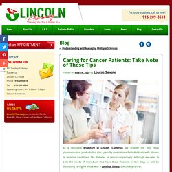 Caring for Cancer Patients: Take Note of These Tips