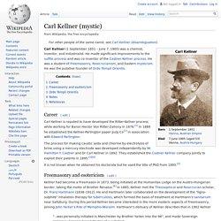 Carl Kellner (mystic)