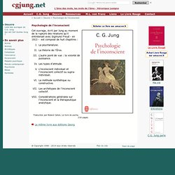 Carl Jung : psychologie de l'inconscient