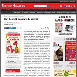 Carl Schmitt, la nature du pouvoir