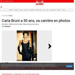 Carla Bruni a 50 ans, sa carrière en photos
