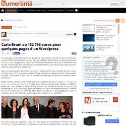 Carla Bruni ou 132 756 euros pour quelques pages d'un Wordpress