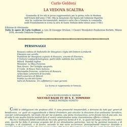 Carlo Goldoni - La vedova scaltra 1748