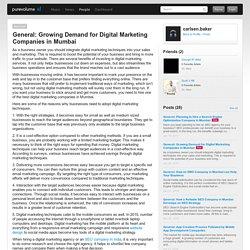 Growing Demand for Digital Marketing Companies in Mumbai
