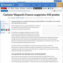 Sociétés : Carlson Wagonlit France supprime 440 postes